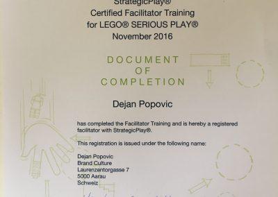 Dejans Zertifikat